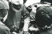 Photograph of the first heart surgery at Sequoia Hospital.