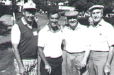 Four golfers at an early Sequoia Hospital Foundation tournament