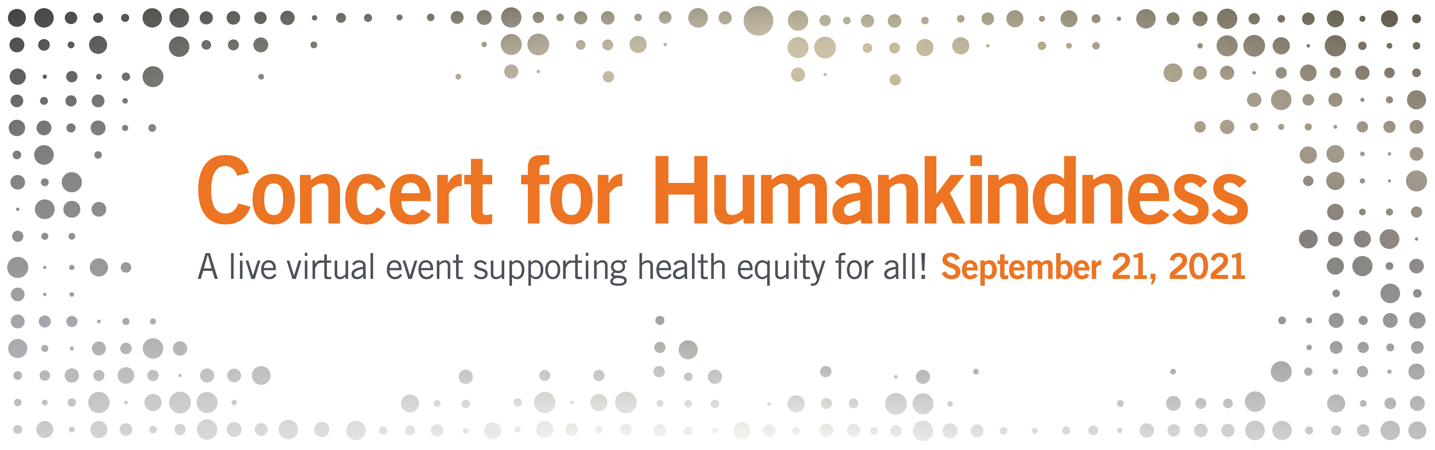 Concert for Humankindness graphic banner