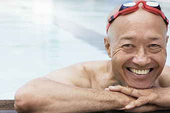 Photo of smiling swimmer.